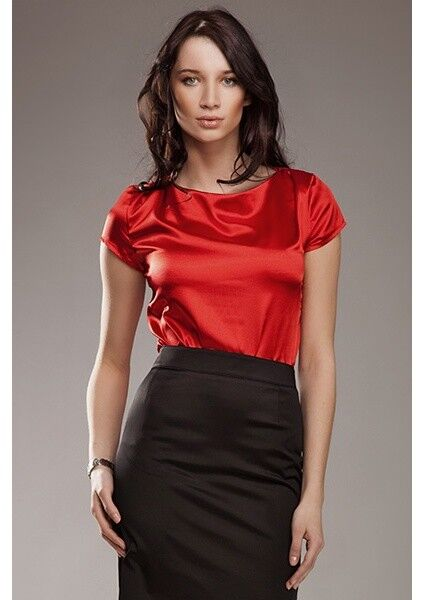 Nife Delicate Blouse rot Größe rrp  DH170 FF 30