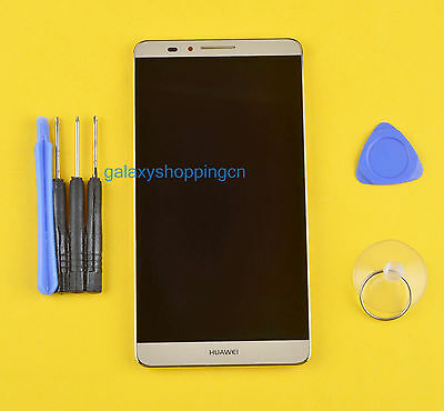 Gold New For Huawei Ascend Mate 7 MT7-TL10 Full LCD Display Touch Screen + Frame