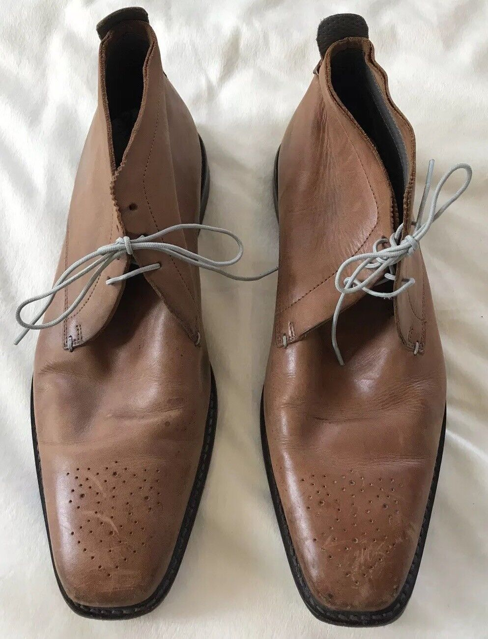 10ad0ade722be2 Ted Baker Chukka Stiefel Men s Größe 11 braun Short Stiefel Stiefel Stiefel  Good Condition Laces schuhe e571d3