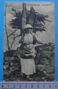 cartolina- Portatrice di Legna. Tipo Cadornino -  6206