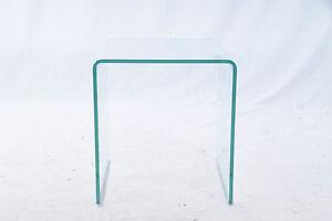 Glastisch-Transparent-Glas-Tisch-Beistelltisch-Podest-Aufsatz-36x36x39cm-Klar