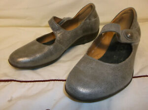 Mephisto-Metallic-Leather-Mary-Jane-Loafer-Shoe-Women-039-s-Size-7-5