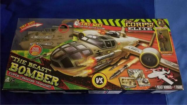 The Corps Elite Beast Bomber Super Command Transport Toy Aeroplane Lights//Sounds