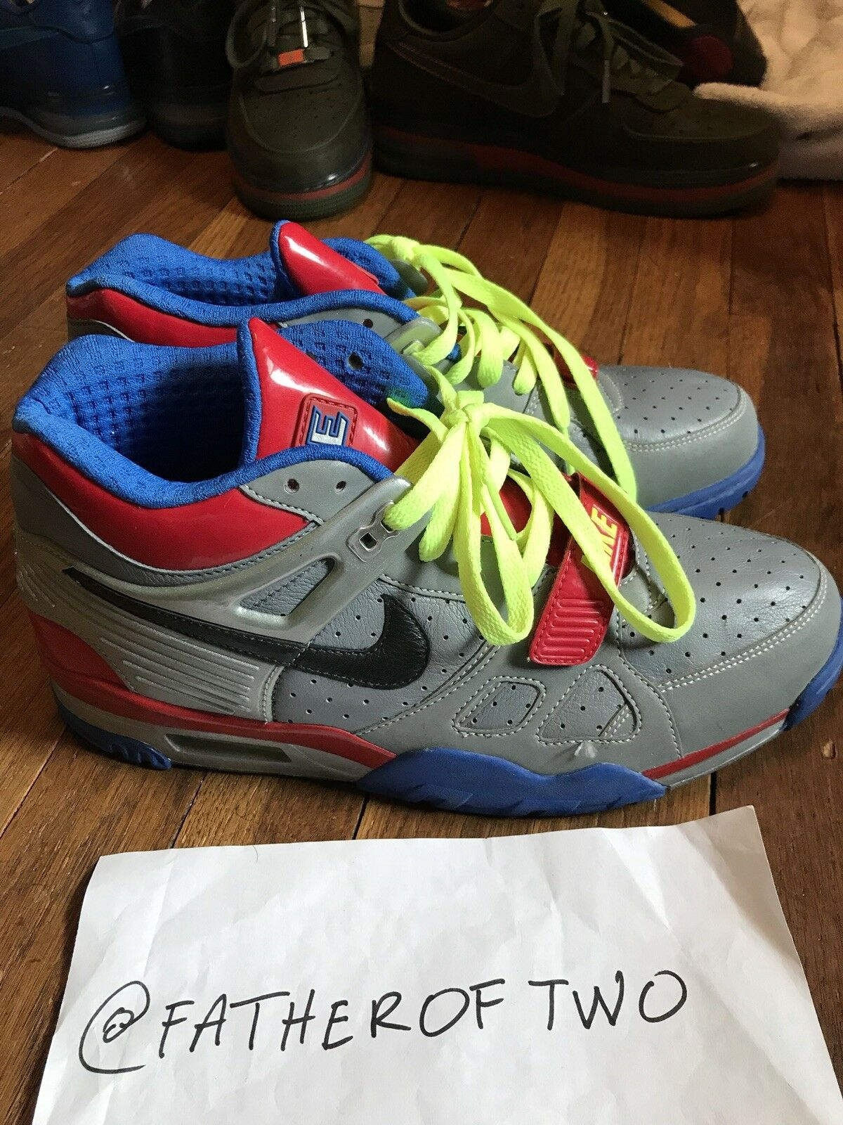 separation shoes 65e16 4578d Used Authentic Nike Air Trainer 3 III Transformers Optimus Prime SAMPLE US  Sz 9