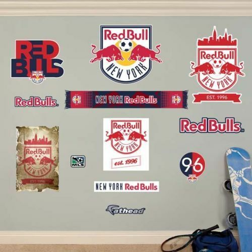NEW YORK RED BULLS LOGO COLLECTION FATHEAD WALL GRAPHIC NEW