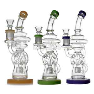 Clear Recycle Glass Bong Glass Smoking Pipes Tobacco Pipes Water Bongs Hookahs