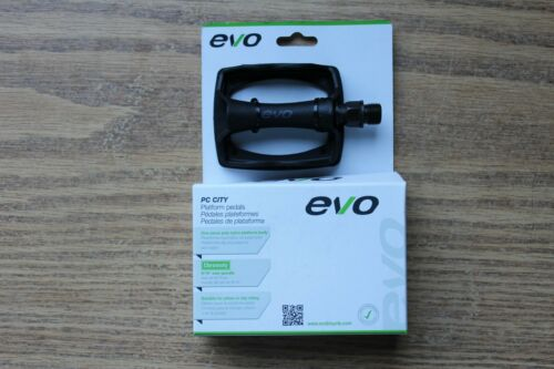 """Evo Platform Bicycle Pedals 9//16/"""" Resin Single Sided Bike Road City Town Urban"""