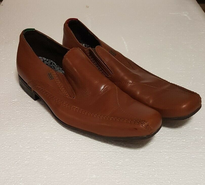 Mens Kickers Slip On Leather Loafers EU 45 ( UK 10.5 )
