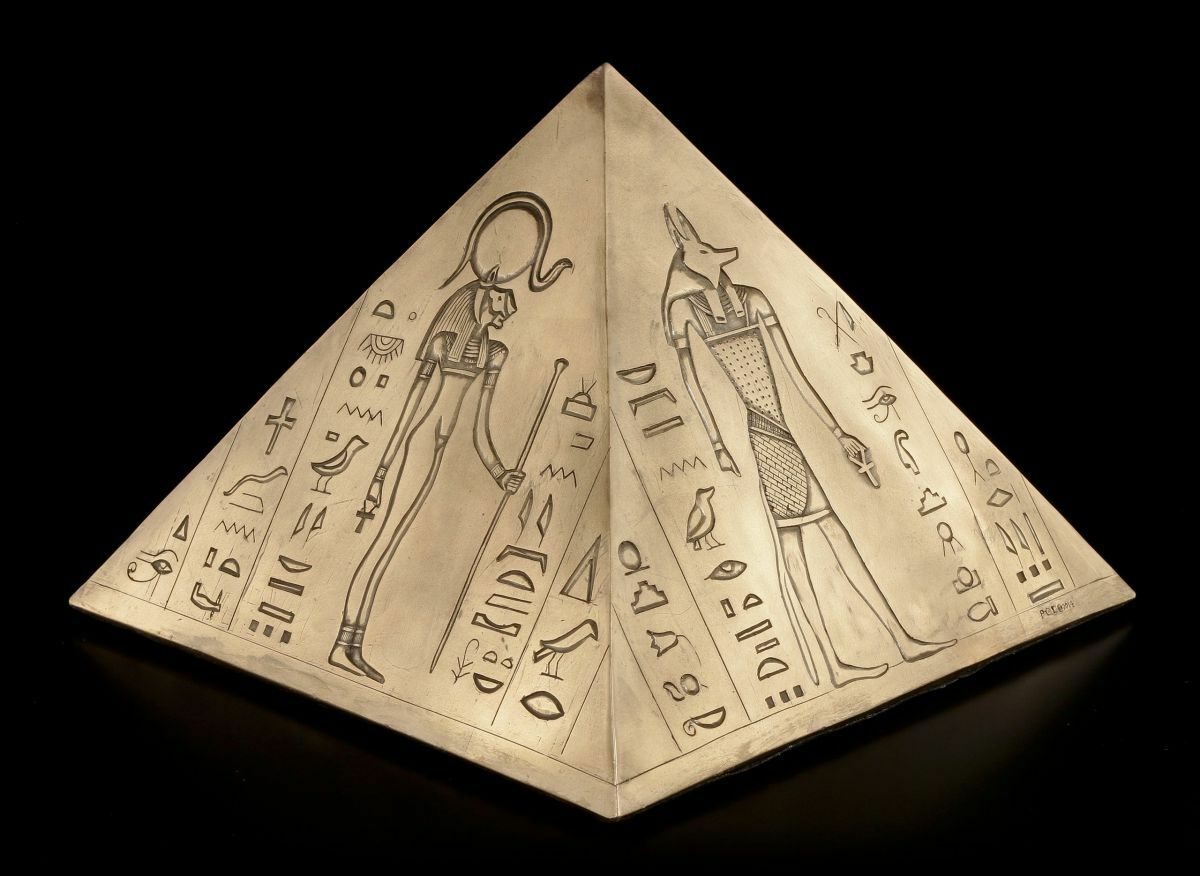 Animale egizianournapiramide maiuscole CANE GATTO urna Animale Urna cani urna