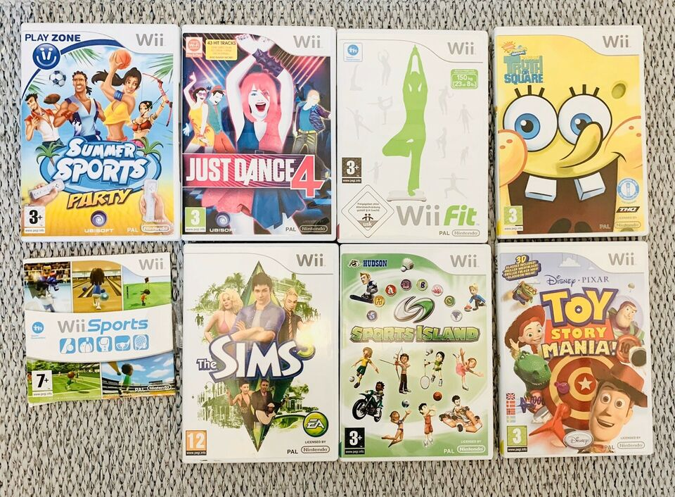 Sports , Just Dance, TOY story Mania