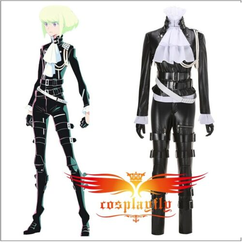 Anime PROMARE Lio Fotia Black Adult Cosplay Costume Outfit Suit Uniform Full Set