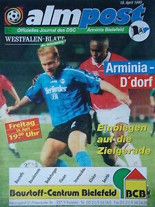 Programme 1998/99 Arminia Bielefeld-Fortuna Düsseldorf  </span>