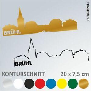 BONN Skyline Silhouette Autoaufkleber Sticker Aufkleber 20 x 7,5 cm
