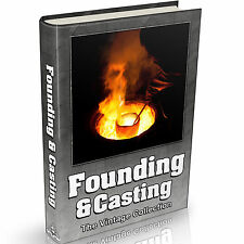 Founding & Casting Books on DVD Blacksmithing Metallurgy Foundry Metal Work Old