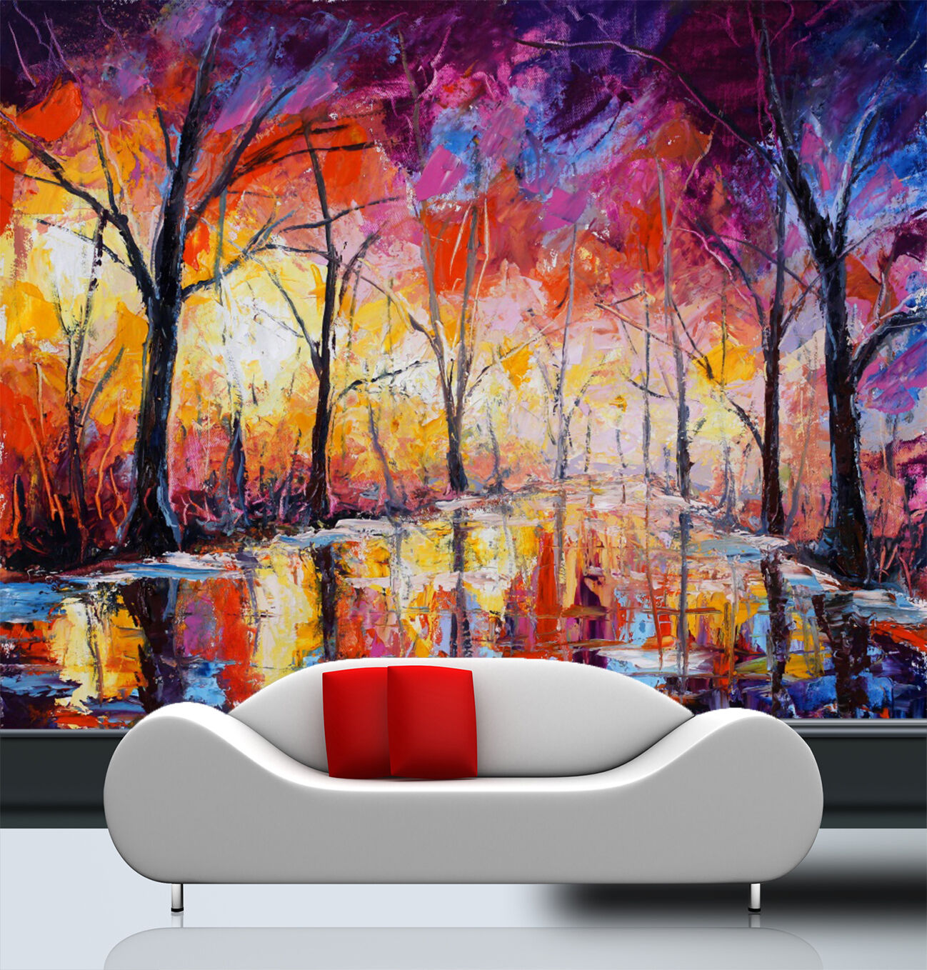 3D Hand Painting Forest 7023 Wall Paper Wall Print Decal Wall AJ WALLPAPER CA