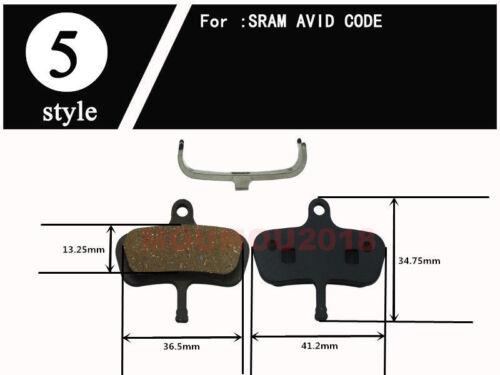 Resin Bicycle Disc Brake Pads FOR ZOOM AVID FORMULA Shimano HAYES TEKTRO MAGURA