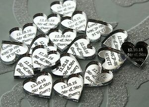 50-Personalised-Mr-amp-Mrs-Love-Hearts-Wedding-Favours-Table-Confetti-Decorations