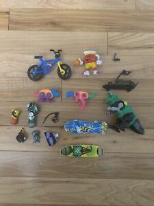 Lot-Of-Small-Toys-Skateboards-Bike-Kool-Aid-Man-Figure-Basketball-Alien