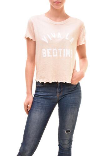 Size Bcf83 Women's Pink Bedtime Authentic La Viva S £77 Shirt Wildfox Rrp qFHOZ7xww