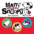 Peanuts 2017 Mini Wall Calendar Many Faces of Snoopy 9781449477363