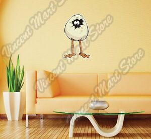 Details about Chicken Egg Rooster Cock Cartoon Funny Wall Sticker Room  Interior Decor 14