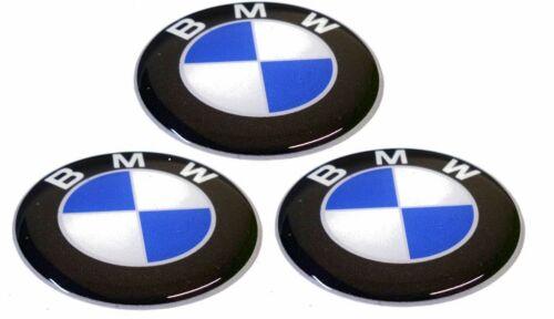 KIT 3 ADHÉSIFS BMW RÉSINE 1 CM 3D ADHÉSIF LOGO STICKERS RÉSINE COD10