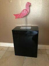 Ds Acrylic Art Sculpture Stand Pedestal Display Black 16w X 9d X 16h