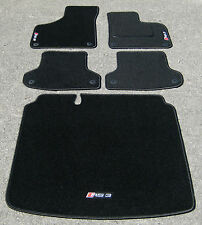 Car Mats in Black to fit Audi RS3 8P (2011-2012) + RS3 Logos + Boot Mat