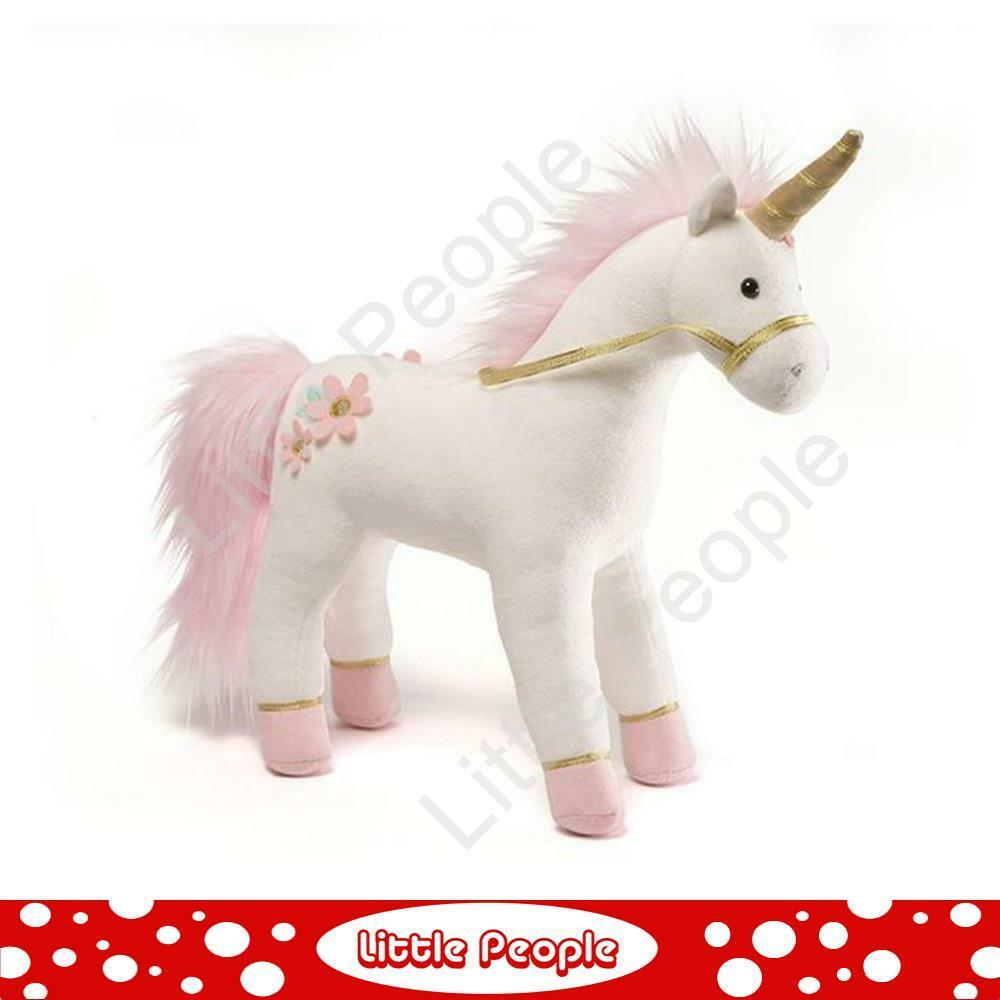 Lily pink Unicorn Plush (White and Pink) - 33cm