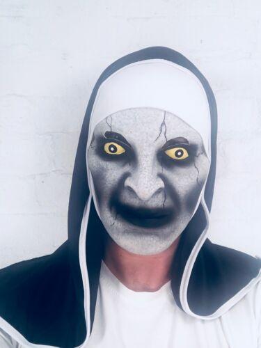 The Nun Mask Latex Conjuring Horror Fancy Dress Valak Habit Halloween Costume