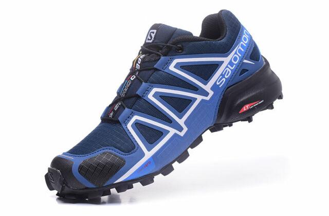 NEW Men's Salomon Speedcross 4 Athletic Running Sports Outdoor Hiking Shoes Blue