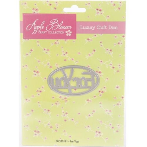 Apple Blossom Die /'For You/' Sentiment in Oval FrameWoodland Collection