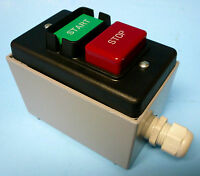 Hd Safety Start / Stop Switch 110/220v + Metal Enclosure + Cord Grips D4157