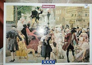 Teatro-de-calle-por-Klimt-3000-Piezas-Waddingtons-Rompecabezas-Usado-Completo