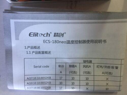 COMMERCIAL FREEZER DIGITAL Elitech ECS-180NEO TEMPERATURE CONTROLLER