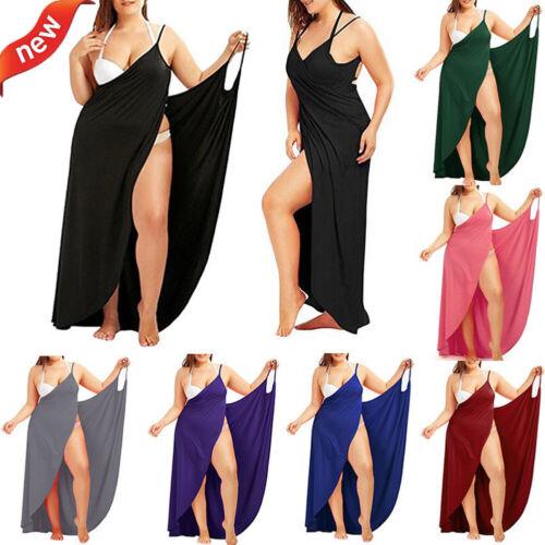 Bademode Damen Badeanzug Kleider Bikini Cover Up Strandkleid Sarong Wrap Pareo