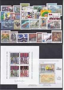 Osterreich-2000-Jahrgang-gestempelt-in-den-Hauptnummern-komplett-ohne-Block-13