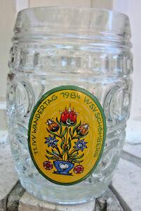 77ivv Wandertag 1984 Wsv Schomberg Glass Dimple German Beer Mug