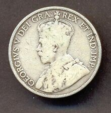 CANADA SILVER COIN,50 CENTS,1912 YEAR,VF,CV$100