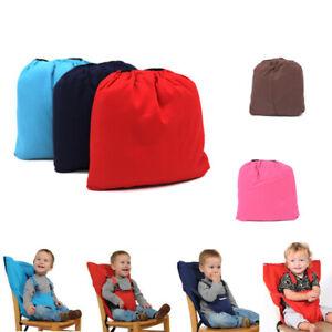 Tragbare-Baby-Hochstuhl-Gurt-Sitz-faltbare-Entlassung-Esstisch-Sitzbezu-ZD