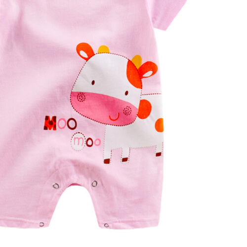 Newborn Infant Baby Boy Girl Romper Cartoon Jumpsuit Climbing Clothes Outfit
