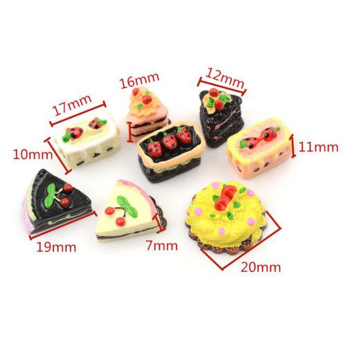 8PCS Dollhouse Miniature Food Set 1//12 Mini Food Cakes Biscuit For  DollS!
