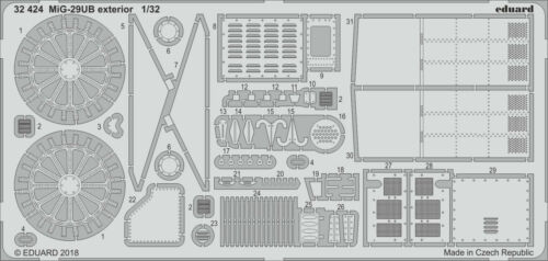 EDUARD 32424 Exterior for Trumpeter® Kit MiG-29UB in 1:32
