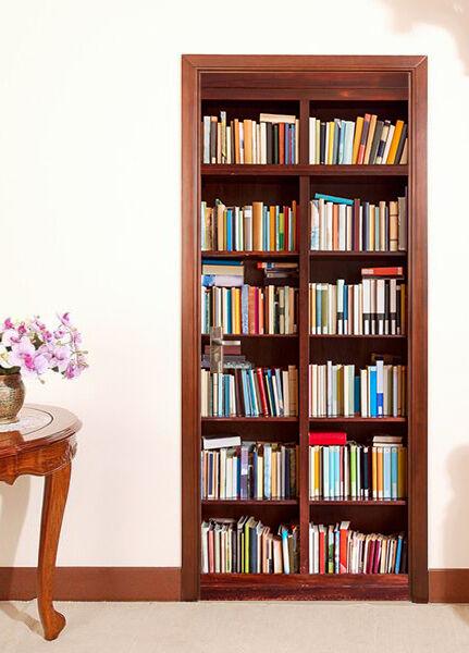 3D Bücherregal Tür Wandmalerei Wandaufkleber Aufkleber AJ WALLPAPER DE Kyra