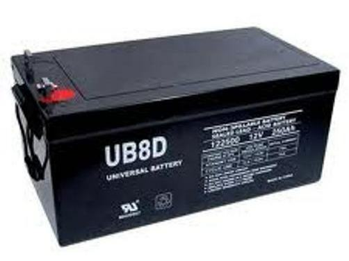 UPG 12V 250AH Sealed Lead Acid Battery 1 Skid (8) UPG UB-8D AGM FREE SHIPPING