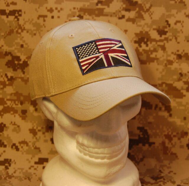 US/UK Friendship Cap M/L UKSF USSF USMC Marines MARSOC Helmand Tactical Ball Cap