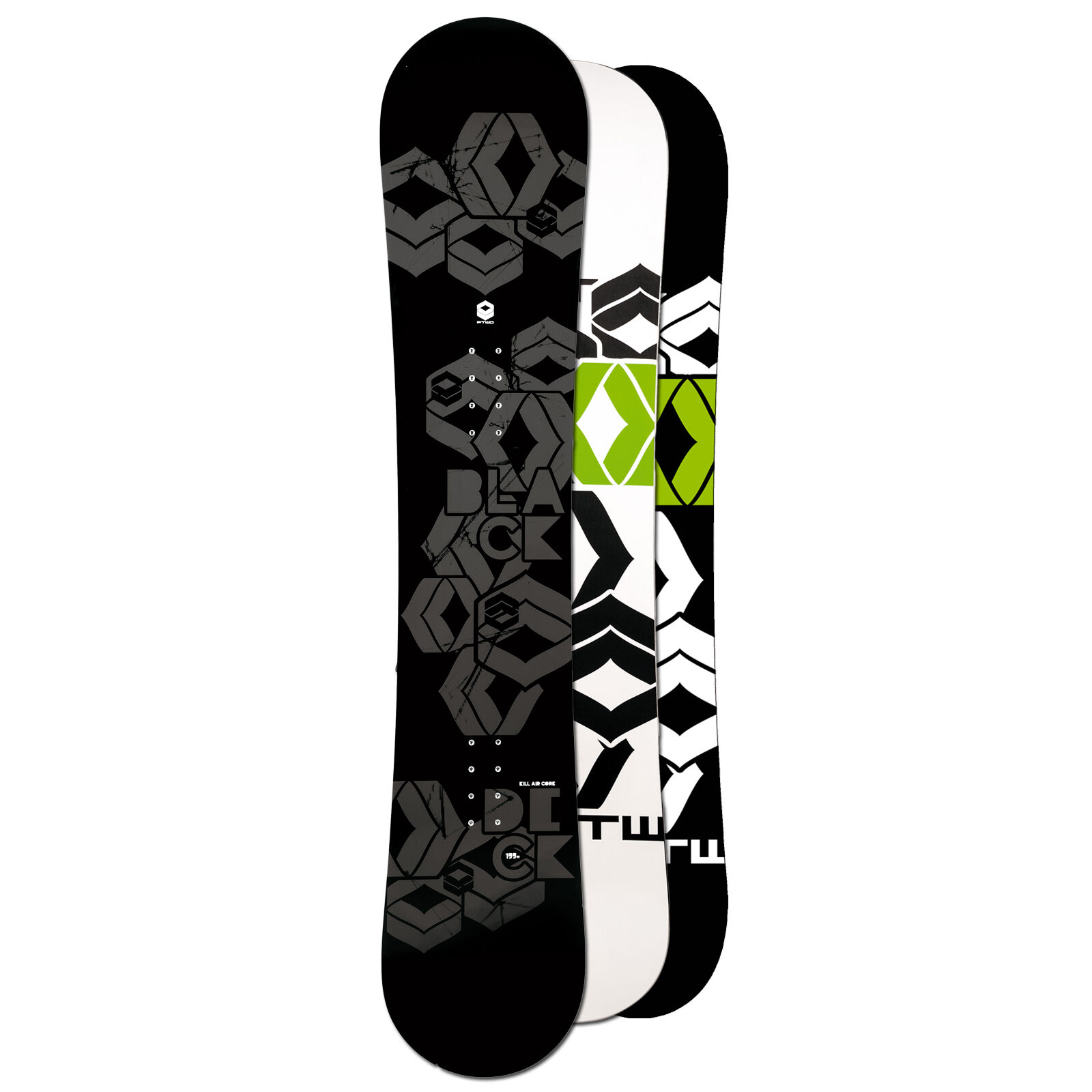 Ftwo Hombre Freestyle Snowboard Cubierta Negra 154cm Camber