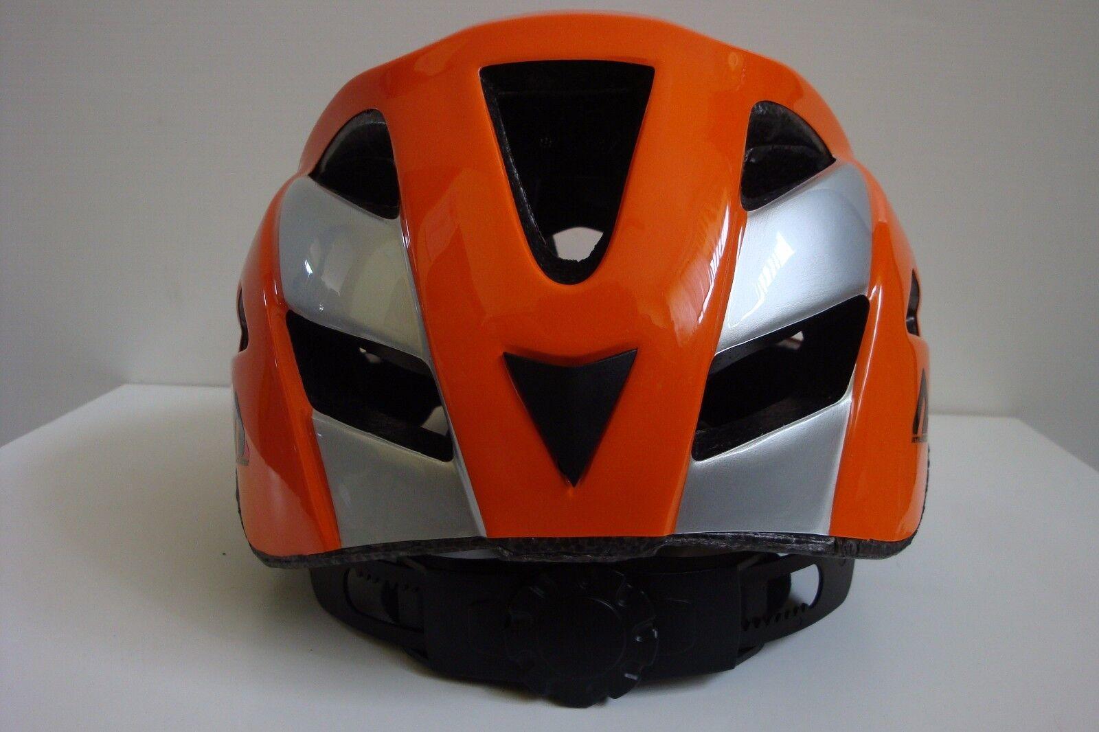 CASCO Bici Bicicletta ATALA TWENTY Mtb All Mountain Tg L arancione argento