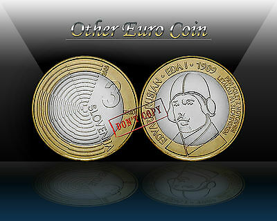 "SLOVENIA 3 EURO 2009 "" Edvard Rusjan - First flight "" Commemorative coin * UNC"