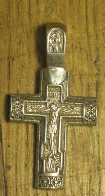 Russian Cross Sterling Silver Cross Orthodox Cross Silver Crucifix Catholic Cross XS059 Greek Cross Cross Pendant Cross Necklace
